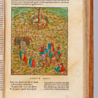 The procession begins heading east, Dante being led by Matilda and Stazio. They approach the Tree of Knowledge.
